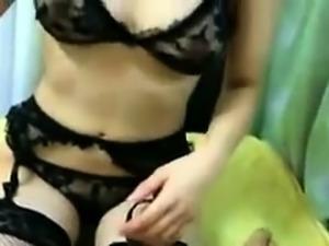 Masked Japanese slut in lingerie gets pounded deep in POV