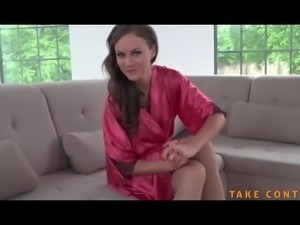 Cock hungry babe experience pussy lick humiliation