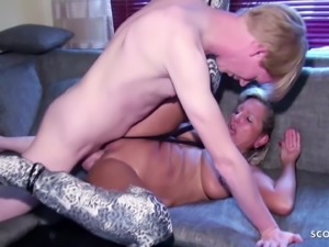 Husband caught Wife with Big Dick Boy and Watch as Cuckold
