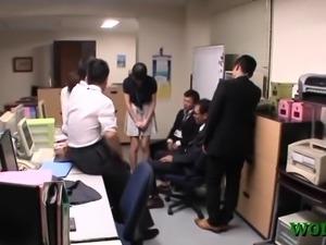 Office wench sucks dick hard