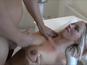 Very Busty Amateur MILF Teches Young Boy How To Fuck Her