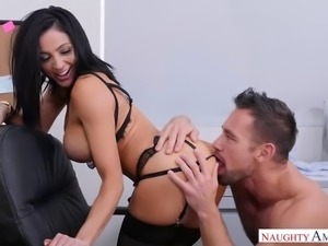 Audrey bitoni needs to fuck her big dick colleague to cum