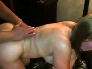 Busty mature blonde with a perfect ass enjoys doggystyle sex