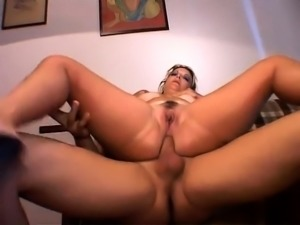Dirty blonde bbw anal beads big dildo dp double penetration