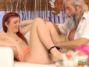 Petite mature swinger Unexpected practice with an older gent