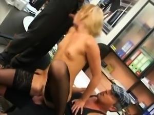 Amateur reality gangbang in porn cinema