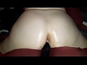 Watch my thick ass wifey grind on this horse dick