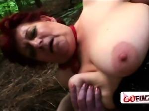 Georgette horny old grandma slurps