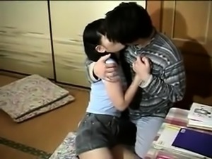 Sweet Japanese girl with small tits indulges in hardcore sex