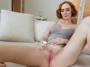 Hot exgf gets a creampie while fucking with a sextoy