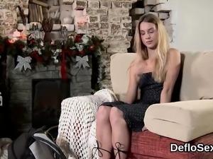 Astonishing sweetie rubs wet cunt until she is cumming09xLy