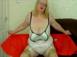 tight white blouse ad short skirt