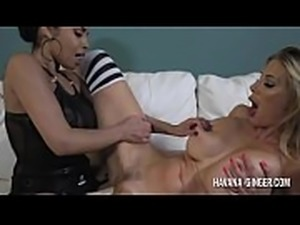 Havana wakes up her girlfriend Puma with a strapon