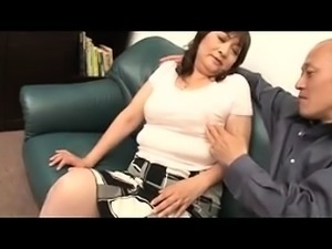 Mature Japanese lady with big tits is starving for hard meat
