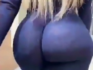 Huge amazing ass walking sexy pawg milf