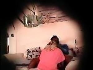 Spy cam sucking black cock  (Bad quality)