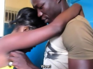 African Couple Make Soapy Sex Tape