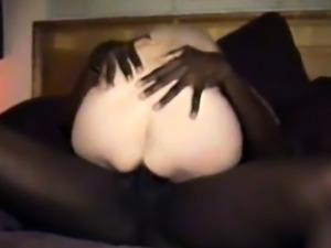 cuckold's girl gets a dark black cock full of juice.