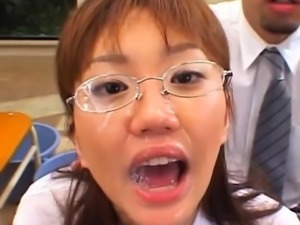 Sensational asian Rin enjoys being drilled