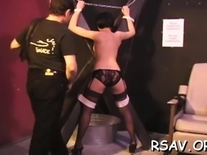 Beautiful cutie is masturbating with a sex toy