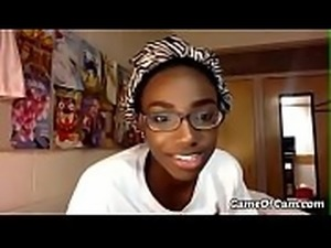 beautiful innocent teen ebony student toying her sweet ass hole - part 1