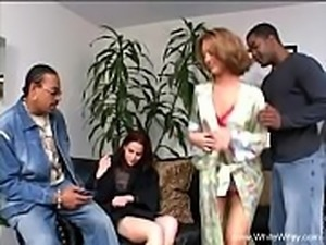 Interracial Group Fuck With BBC
