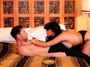 Brunette giving a good handjob and full swallowing cumshot