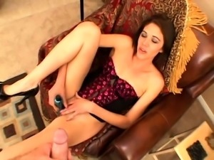 Handjob With Rubber Gloves On POV