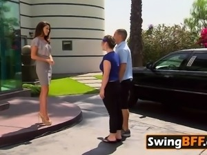 Hot swingers are spanking the butts