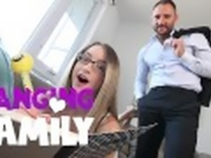 Banging Family - First Time Sex for Petite Step-Daughter