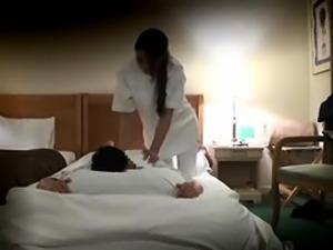Seductive Asian masseuse enjoys a deep fucking on hidden cam