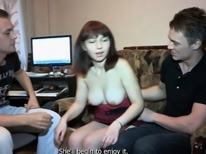 Pretty Dasha with impressive natural tits gets nailed hard